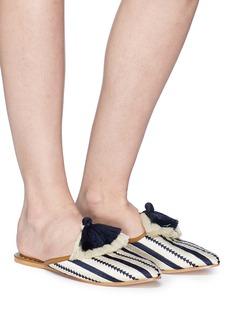 Figue 'Audrey' tassel arrow stripe slides