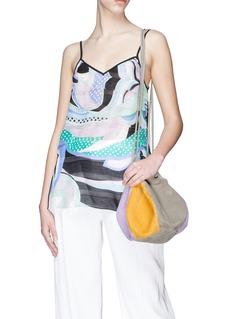 Creatures Of Comfort 'Puff Drawstring' suede colourblock bag