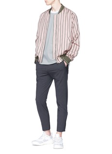 Solid Homme Zip cuff cropped pants