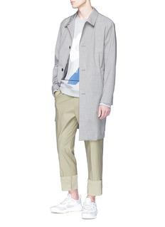 Solid Homme 抽象几何图案纯棉卫衣