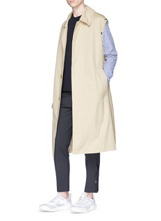 Solid Homme Two-in-one trench coat and zip hoodie