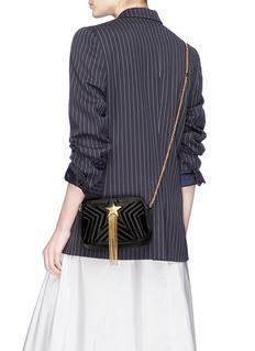 Stella McCartney 'Stella Star' chain tassel mini quilted satin shoulder bag