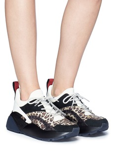 Stella McCartney 'Eclypse' leopard print panel chunky outsole sneakers