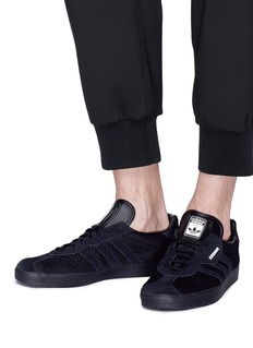 adidas x NEIGHBORHOOD Gazelle Super绒面真皮拼接针织运动鞋