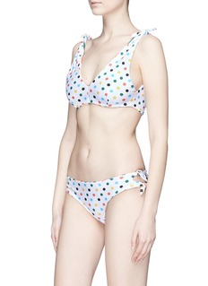 RYE  'Swish' tie reversible stripe print bikini bottoms