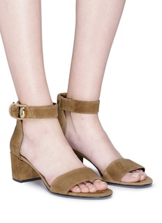 Stella Luna Buckled ankle strap suede sandals