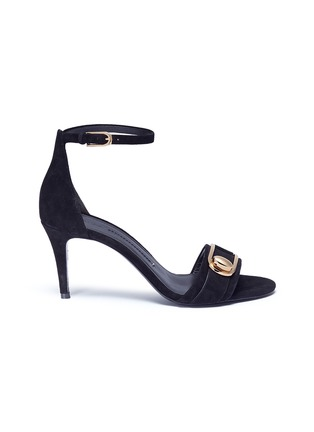 Main View - Click To Enlarge - Stella Luna - Turnlock buckle suede sandals