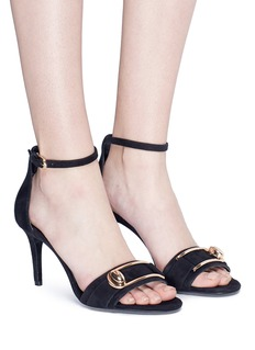 Stella Luna Turnlock buckle suede sandals