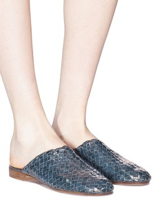 Fabio Rusconi 'Minnie' basketweave leather slides
