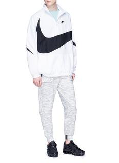 NikeLab 'Swoosh' logo packable half zip jacket