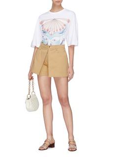 Chloé Pleated front safari shorts