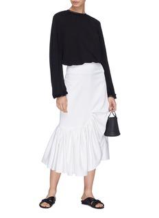 Rosetta Getty Tie split drape back chiffon blouse