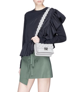 Rebecca Minkoff 'Christy' floral cutout small leather shoulder bag