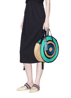 Rebecca Minkoff 'Straw Circle' colourblock crossbody bag