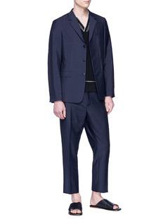 Jil Sander Mohair-virgin wool suit