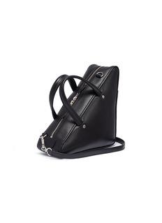 Balenciaga 'Triangle' logo print small leather duffle bag