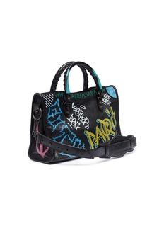Balenciaga 'Classic City Graffiti' print small leather shoulder bag