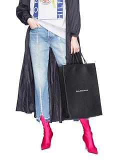 Balenciaga 'North-South' logo print medium leather shopping bag