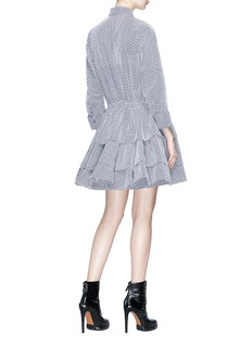 Alaïa Embroidered drawstring flared shirt dress