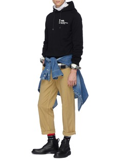 Sacai x The New York Times 'Truth' slogan print hoodie