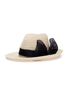 Eugenia Kim 'Dita' sinamay bow hemp straw fedora hat
