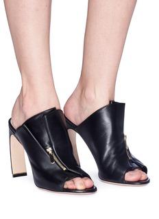Nicholas Kirkwood 'Kristen' zip fold vamp leather mules