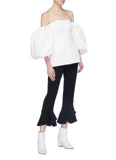 Ellery 'Countless' balloon sleeve corset top