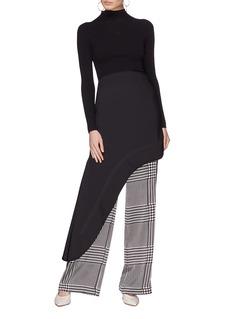 Ellery 'Minimalism' asymmetric drape suiting skirt