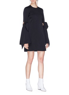 Ellery 'Thelma' tie cutout flared sleeve mini dress