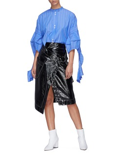 Ellery 'Goldman' drape cone sleeve stripe shirt