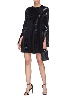 Galvan London 'Galaxy' split sleeve sequin mini shift dress