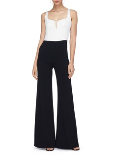 Galvan London 'Eclipse' colourblock wide leg jumpsuit