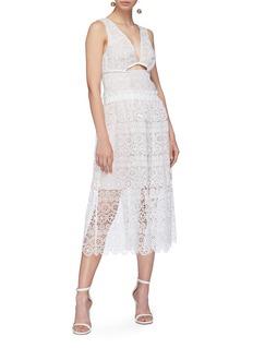 self-portrait Cutout guipure lace dress