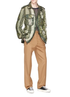 Dries Van Noten 'Voide' mix pattern cotton-linen jacket