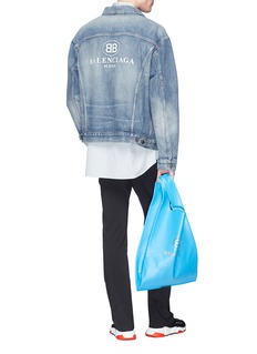 Balenciaga 'BB Mode' logo embroidered denim jacket
