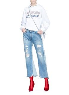 GCDS Futulogo品牌名称纯棉连帽卫衣