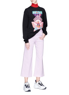 GCDS Maneki neko graphic logo print oversized T-shirt