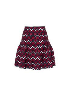 Alaïa 'Orchidee' dot jacquard flared skirt
