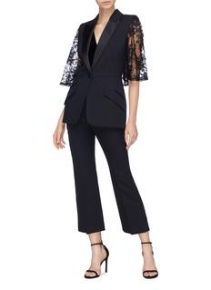 Alexander McQueen Chantilly lace cape sleeve blazer