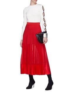 Alexander McQueen Pleated panelled skirt