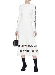Alexander McQueen Wavy cutout skirt