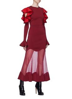 Alexander McQueen Wavy mesh panel skirt