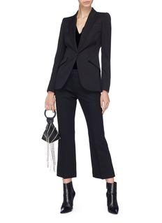 Alexander McQueen Flared wool-blend suiting pants