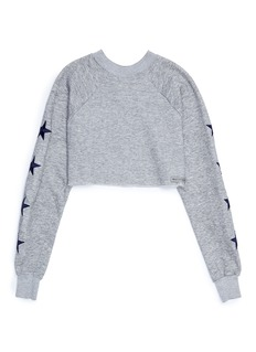 G.R.E.G Star patch sleeve unisex cropped raglan sweatshirt