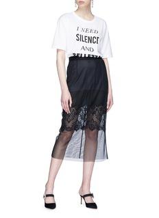Dolce & Gabbana 'I Need Silence and Bellezza' slogan print oversized T-shirt