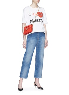 Dolce & Gabbana 'L'Amore è Bellezza' slogan print oversized T-shirt