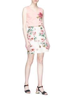 Dolce & Gabbana Floral appliqué tank top