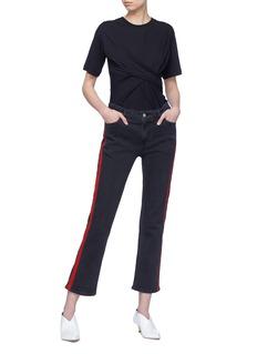VICTORIA, VICTORIA BECKHAM Stripe outseam slim fit boyfriend jeans