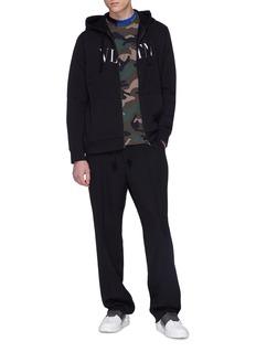 Valentino Logo print zip hoodie