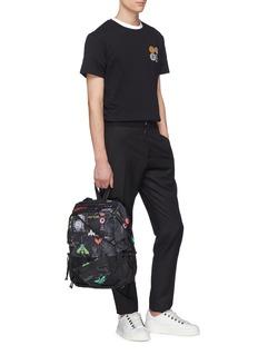 VALENTINO 珠饰桌球及英文字纯棉T恤